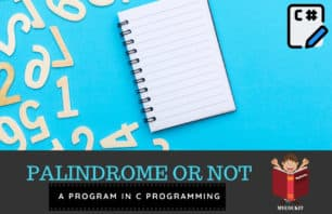 program to check palindrome in c